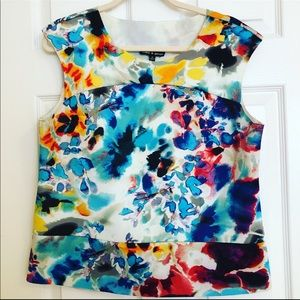 Vibrant colorful sleeveless top